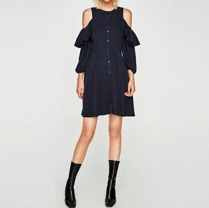 Zara Off The Shoulder Cut Out Dress